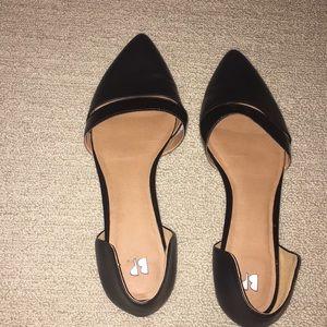 BP Black Flats; parent and leather; sz 10